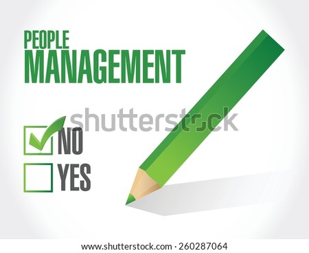 no people management illustration design over white