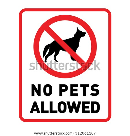 no pets allowed. with pets no access. vector sign