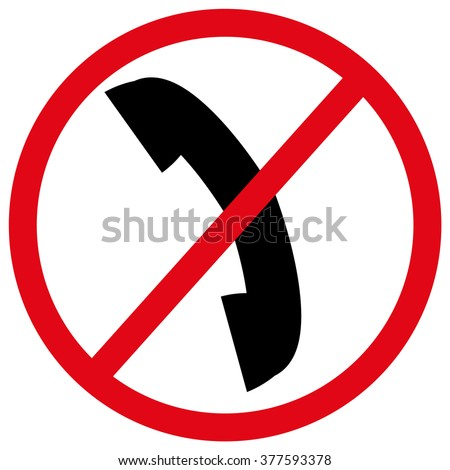 No phone allowed red sign on white background. No phone EPS. No phone JPG. Don�´t use your phone sign symbol. No call sign. No phone vector icon. - stock vector