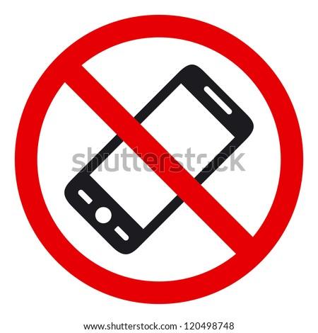 No phone vector sign - stock vector