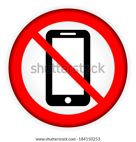 No phone vector sign on white background.