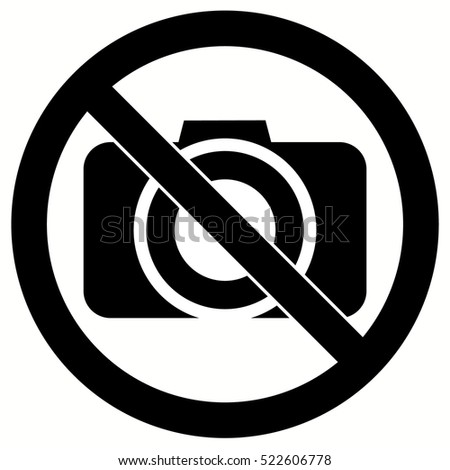 No Photo / No Photography sign vector. Camera.