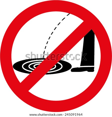 No pissing sign - stock vector