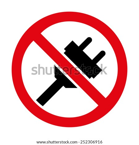 No Plug Icon Great Any Use Stock Vector 252306916