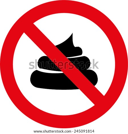 No pooping sign - stock vector
