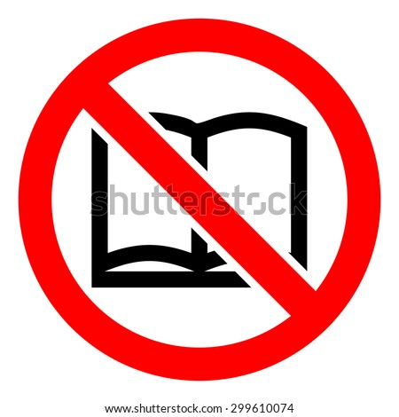 No read a book icons set great for any use. Vector EPS10.