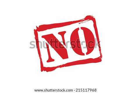 NO red rubber stamp vector over a white background. - stock vector