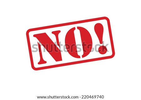 NO! Red Rubber Stamp vector over a white background. - stock vector