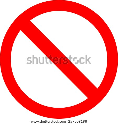 No Sign - stock vector