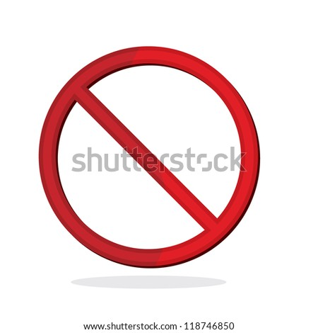 no sign isolated for no smoking, no dogs and etc - stock vector