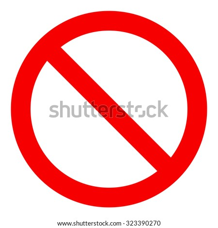 No Sign, isolated on white background, vector illustration. - stock vector