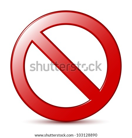 No Sign. Vector - stock vector