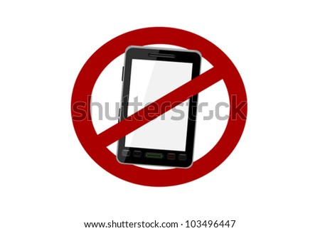 no smart cell phones allowed symbol