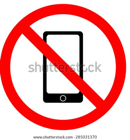 No smarthpone mobile allowed sign illustration vector