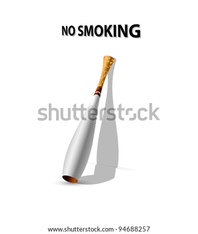 no smoking alarm vector illustration - stock vector