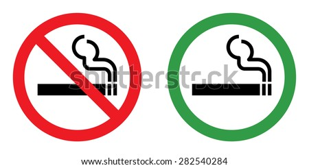 No smoking and Smoking area - stock vector
