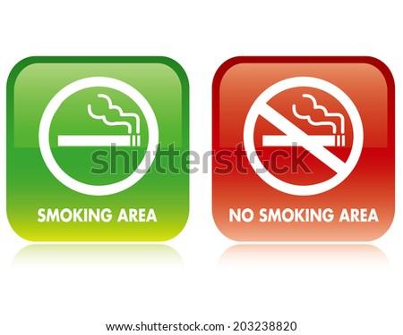 No smoking and Smoking area Vector - stock vector