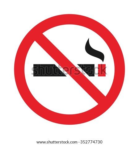 no smoking arabic logo vector. - stock vector