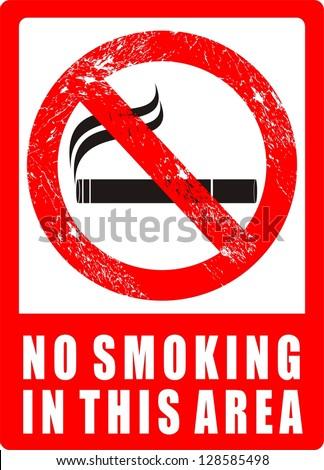 No Smoking Area - stock vector
