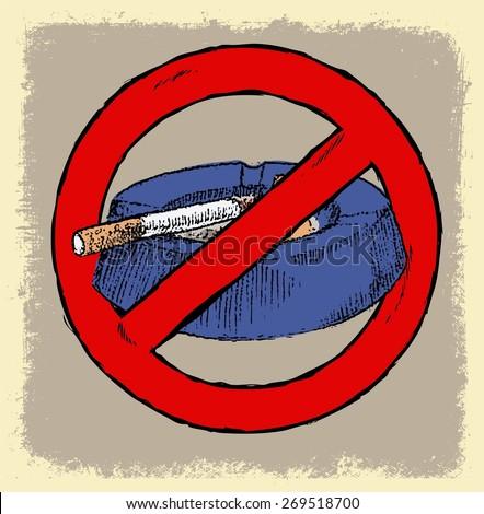 NO SMOKING AREA DOODLE VECTOR - stock vector