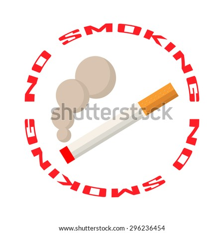 No smoking area sign - stock vector