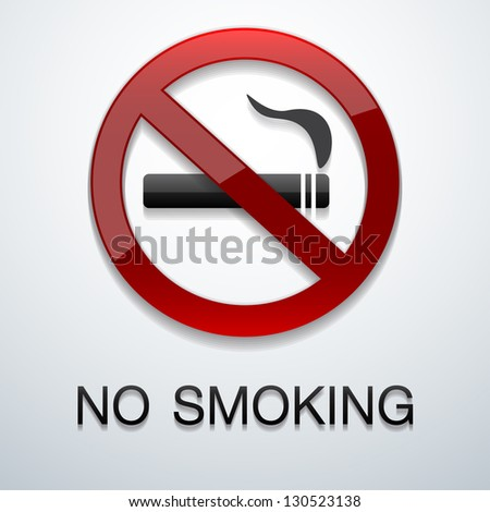 No smoking background - stock vector