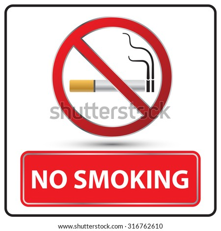 no smoking danger signs Illustration vector