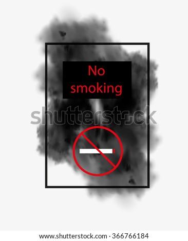 No smoking easy all editable - stock vector
