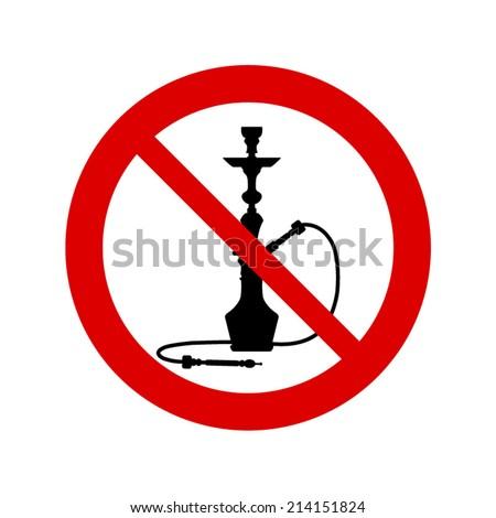 No smoking hookah sign - stock vector