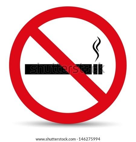 No smoking icon. Prohibition vector - stock vector
