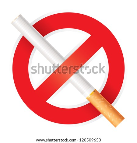 No smoking. Isolated on white background, vector illustration - stock vector