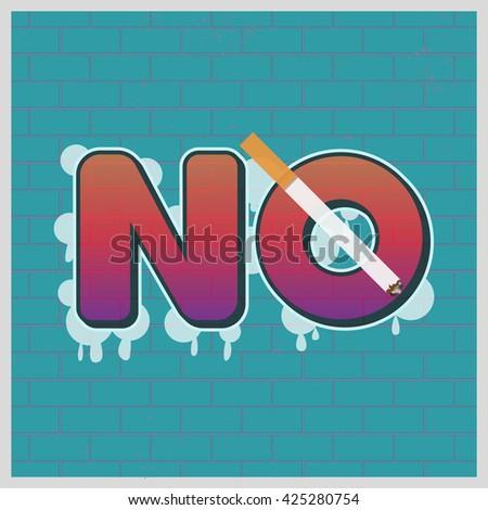 No Smoking. May 31st World No Tobacco Day poster. No Tobacco sign. No smoking symbol. Stop smoking. Tobacco free. Smoke free. Vector Illustration. - stock vector