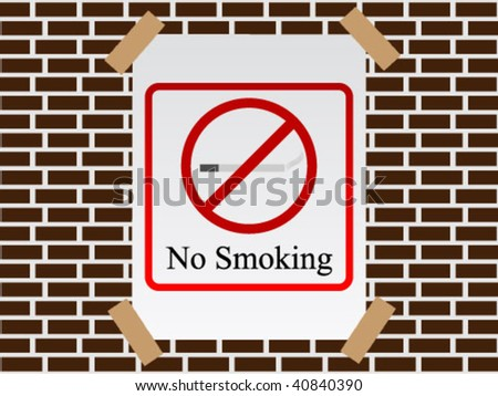 no smoking poster on wall