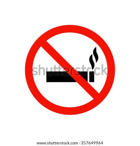 No smoking prohibiting sign.