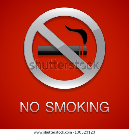 No smoking red background