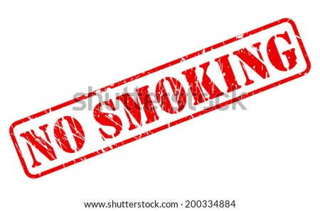 NO SMOKING red stamp text on white - stock vector
