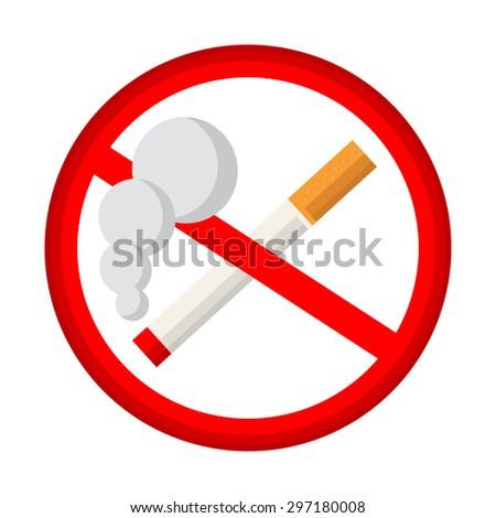 No smoking sign - stock vector