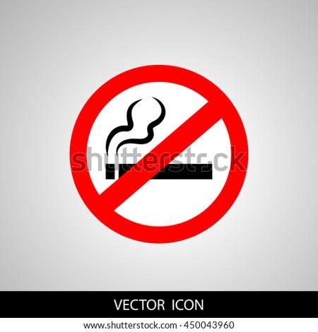 No smoking sign. - stock vector