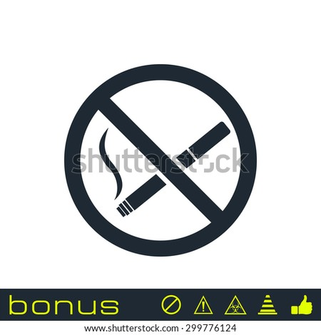 No smoking sign icon - stock vector