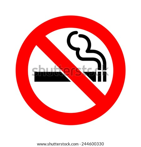 No smoking sign icon vector - stock vector