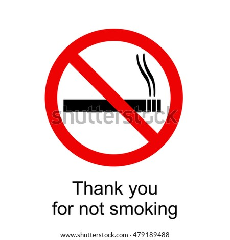 No smoking sign illustration on a white background