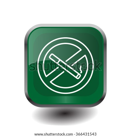 No smoking sign line icon.  vector