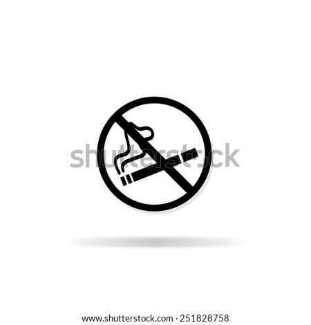 No smoking sign. No smoke icon. - stock vector