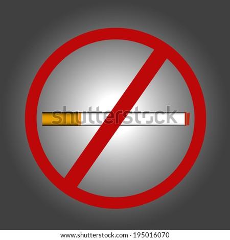 No smoking sign. No smoke icon. Stop smoking symbol in vector EPS 10 - stock vector