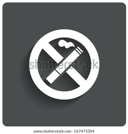 No smoking sign. No smoke icon. Stop smoking symbol. Vector illustration. Filter-tipped cigarette. Icon for public places. - stock vector