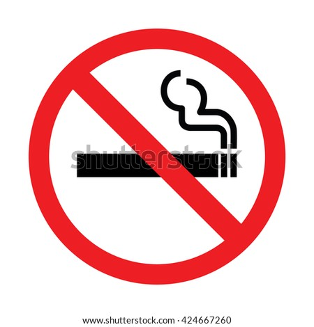 No smoking sign, No smoking icon