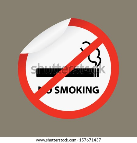 No Smoking Sign on gray background- Vector.