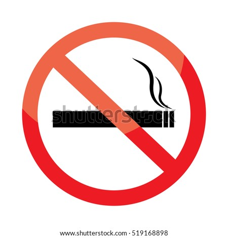 No smoking sign on white background.