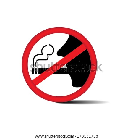 No smoking sign on white background - Vector. - stock vector