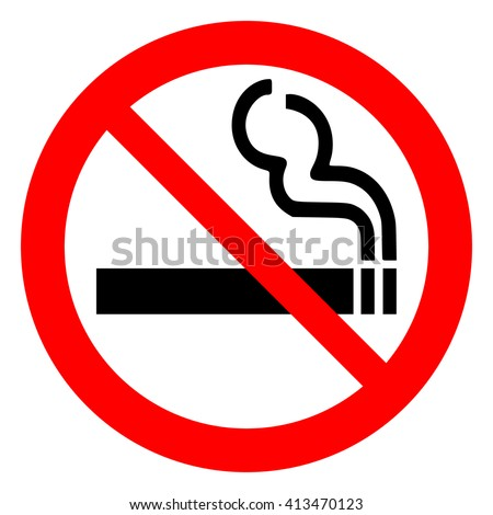 No smoking sign on white background , vector illustration.